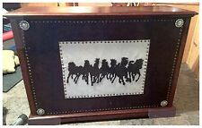 Western Bar with Horse Herd Silhouettes and Conchs