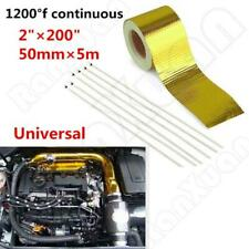 "1PC Self Adhesive Reflective Gold High Temperature Heat Shield Wrap Tape 2""x200"""