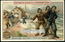 Emergency Sea Ship Sailor Rescue Marine Ocean c1900 Trade Ad Card