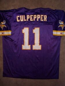 *IRREGULAR* Minnesota Vikings DAUNTE CULPEPPER nfl Jersey Adult MENS/MEN'S (xl)