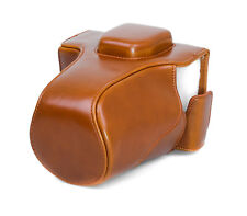 Camera Case Case for Olympus E-M5 Mark II Faux Leather Bag Brown CC1375c