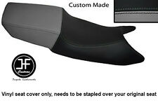 BLACK AND GREY VINYL CUSTOM FOR HONDA CBR 600 F 87-90 DUAL SEAT COVER ONLY