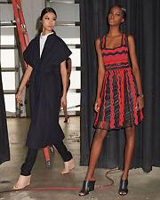 Authentic M Missoni Sleeveless Red Sheer Greek Key Dress IT 42 US 6 $895