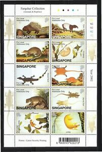 SINGAPORE 2002 FARQUHAR COLLECTION OF NATURAL HISTORY DRAWINGS ANIMALS & REPTILE