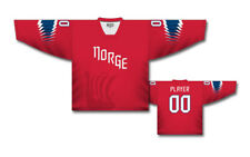 Team Norway Norge 2018 Red Ice Hockey Jersey Custom Name and Number