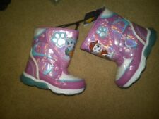 NWT TODDLER GIRLS PAW PATROL FANCY WINTER BOOTS GLITTERY HOT PINK SIZE 6 CUTE!