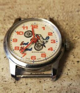 Evel Knievel Bradley Watch Face - Swiss Made