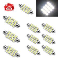 10X White 42mm 16SMD Car LED Festoon Dome Map Interior Cargo Light Bulb 211 578