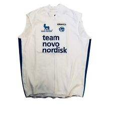 New 2016 Men's Craft Team Novo Nordisk Thermal Cycling Vest, White, Size 3XL