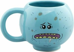 OFFICIAL RICK AND MORTY MR MEESEEKS ROUND 3D MUG CUP NEW & GIFT BOXED, CLEARANCE