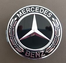 Mercedes Benz Wheel Rim 75mm all Black Chrome Centre cap AMG A B C E S ML GL