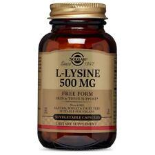 Solgar L-Lysine 500 mg - 50 Vegetable Capsules FRESH, FREE SHIPPING, MADE IN USA