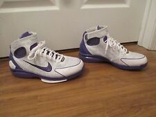 Classic 2007 Used Worn Sz 13 Nike Kobe Air Zoom Huarache 2K4 Shoes White Purple