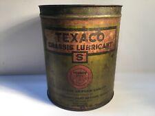 Vintage Texaco Lubricant Can Metal gas rare tin sign handy Sinclair Mobil Sunoco