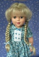 Global NIKKI Blonde Full Cap Doll Wig SZ 11-12 Braids, Plaits with Bangs
