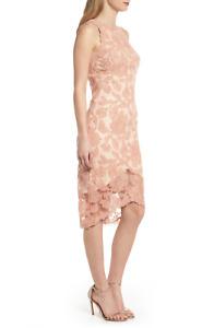 TADASHI SHOJI NEW $368 Peony Embroidered Sheath Dress Size 14