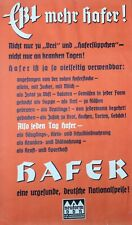 Rare German Original Early C20th Vintage Advertising Poster Hafer Oats