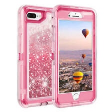 For Apple iPhone 6 7 8 6S Case Cover Clear Bling Quicksan fits Otterbox Defender