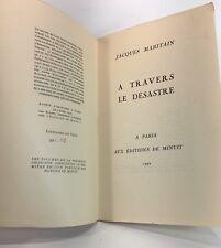 Jacques Maritain, A travers le désastre, EO 1942, GUERRE DE 1939 1945