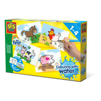 SES CREATIVE Children's My First Colouring with Water Farm Animals Set, Unisex,