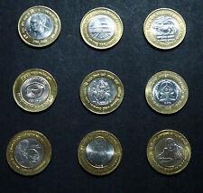 10 Rupee Commemorative Coins UNC -  10 Coins Set