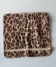 Rare Ralph Lauren Aragon Leopard 100% Cotton Face Washcloth Vintage