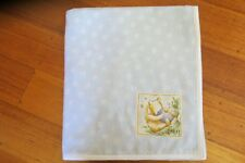 Baby blanket, handmade, double thickness flannel-   Blue ABC + Winnie the pooh