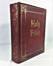 1960 HOLY BIBLE Guiding Light Edition Red Hardcover Gold Paging