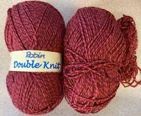 Tweed Double Knitting Yarn-180g Robin-008-Burgundy Shades-Charity Sale-A