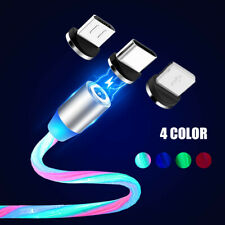 LED Magnetic Fast Charging Magnet Micro USB Type C Wire Cable LED Wire Cord IOS