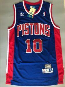 New Dennis Rodman Detroit Pistons Blue Throwback Swingman Jersey Size S-XXL