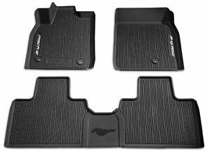 OEM NEW 2021 Ford Mustang Mach-E All Weather Floor Mat SET Tray Style Rubber 3