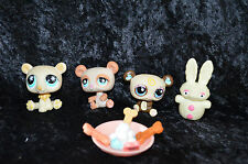 Littlest Pet Shop #925, #1495, #759, Snow Bunny with Accessories