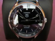 Tag Heuer Carrera Twin Time (Excellent Condition/Display back)..extra straps