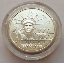 1986 FRANCE 100 FRANCS SILVER PROOF STATUE OF LIBERTY COIN