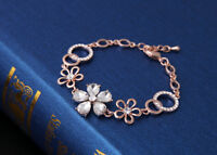 18k feine Goldkette Rose vergoldet Armband Armreif  Prinzessin Armkette Geschenk