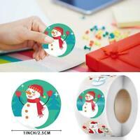 500Pcs / Roll Frohe Weihnachten Aufkleber Dekorationen für E7R4