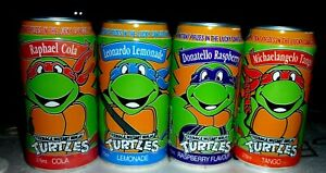 Collectable softdrink cans: Set of 4 Teenage Mutant Ninja Turtles 375ml cans