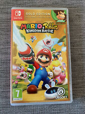 Nintendo Switch Mario + Rabbids Reino juego batalla Excelente Estado