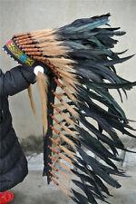 36 INCH black indian feather headdress indian war bonnet American costume