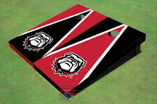 University Of Georgia Bulldog Mark Alternating Triangle Custom Cornhole Board