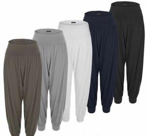 Women's Ladies Baggy Harem Trousers Pants Loose Fit Yoga Ali Baba Leggings 8-26