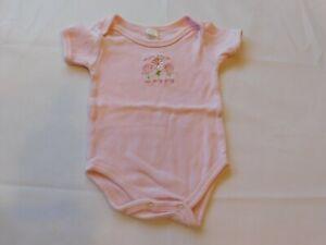 Cutie Pie Baby Girl's Short Sleeve One Piece Bodysuit Size 3-6 Months Pink GUC