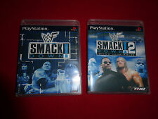 Empty Replacement Cases! WWF SmackDown 1 + 2 PlayStation 1 PS1 PS2 PS3