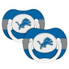 Detroit Lions Pacifiers 2 Pack Set Infant Baby Fanatic BPA Free NFL Orthodontic