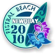 Retro tavola da surf Surf Fistral Beach Newquay 2010 Auto Camper Van Adesivo Decalcomania