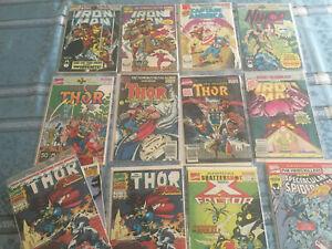 19 Comic Lot Marvel Annual Thor Captain America Iron Man 9 10 11 12 13 14 15 16