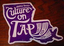 ABITA BREWING LOUISIANA Cultur LOGO STICKER decal craft beer brewery new orleans