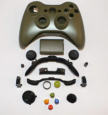 Army Green Custom Replacement Xbox 360 Controller Shell + Buttons Mod Kit