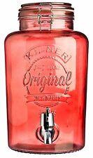 Kilner 5 Litre Clip Top Drink Dispenser Red